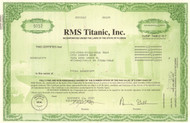 RMS Titanic Inc stock certificate 2002 (artifact exhibitor)