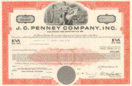 J. C. Penney bond certificate 1970's (retail chain) - orange