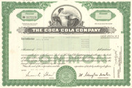 Coca-Cola Company stock certificate (soft drinks)