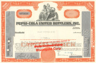 Pepsi-Cola United Bottlers Inc. stock certificate 1965 (soft drinks)