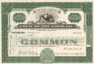 Fruit of the Loom stock certificate (underwear brand) - green