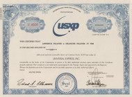 Universal Express Inc. stock certificate (financial scandal)