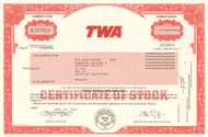 TWA (Trans World Airlines) stock certificate 2001