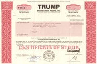 Trump Entertainment Resorts stock certificate 2006