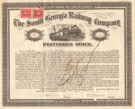 South Georgia Railway Company stock certificate 1925 (lumber railroad)