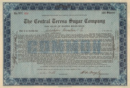 Central Teresa Sugar Company 1922 (Cuba cane plantations)