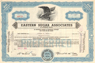 Eastern Sugar Associates stock certificate 1952 (Puerto Rico sugar)