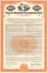 Philip Morris Incorporated $1000 bond certificate 1959 (tobacco)