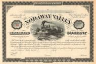 Nodaway Valley Railroad Company stock certificate circa 1879 (Missouri)