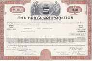 Hertz Corporation bond certificate - brown.  Uncommon car rental piece.