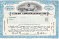 General Motors modern stock certificate - blue
