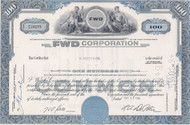 FWD Corporation stock certificate 1964