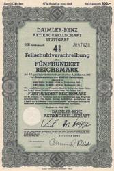 Daimler-Benz Nazi era bond 1942
