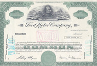 Ford Motor Company stock certificate - unissued