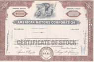 American Motors 1959  stock cetificate - Romney as president