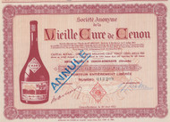French liqeuer bottler stock certificate