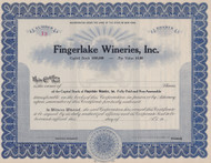 Fingerlakes Wineries stock certificate