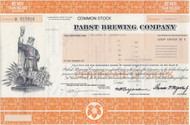 Pabst Brewing stock certificate 1985