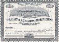 California Navigation and and Improvement Company Circa 1900 stock certificate