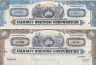 Falstaff  stock certificate set of 2 colors