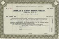 Fuhrmann & Schmidt Brewing Company stock certificate circa 1911