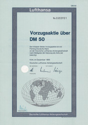 Lufthansa Share 50 DM - 1969