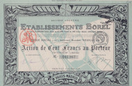 Etablissements Borel (France) bond 1918 certificate