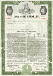 TWA bond certificate 1961