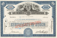 Lee Tire & Rubber Corporation stock certificate