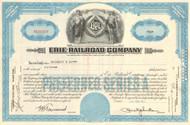Erie Railroad Company stock certificate