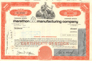 Marathon Manufacturing Company stock certificate