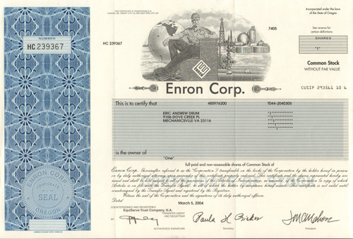 Rise and fall of enron essay