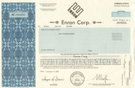 ENRON Corp 2004 stock certificate - crooked E