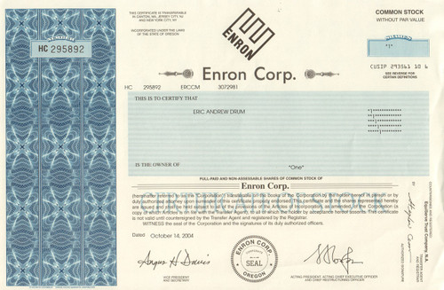 enron scandal essay conclusion The enron scandal was the largest corporate financial scandal ever when it emerged  enron was on the verge of selling itself to dynegy for $8 billion  withdrawing their offer on enron probably saved dynegy as well.