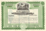 Waverley Cooperative Bank 1951 stock certificate
