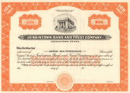 Jenkintown Bank And Trust Company stock certificate circa 1922