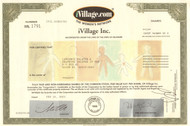 iVillage stock certificate 2001