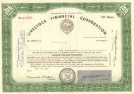 Livestock Financial Corporation stock certificate 1964