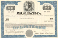 U.S. Financial (USF) $1000 bond 1971 - blue