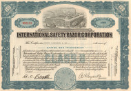 International Safety Razor Corporation stock certificate 1950's