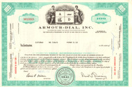 Armour-Dial Inc stock certificate 1968
