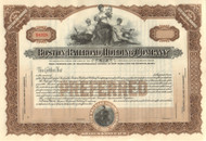 Boston Railroad Holding Company stock certificate circa 1909