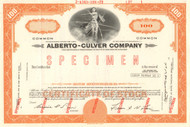Alberto-Culver Company stock certificate specimen