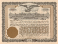 Buccaneer Hotel Company stock certificate circa 1929