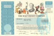 Walt Disney Company stock certificate 1998