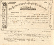 Harlem  and Spuyten Duyvil Navigation stock certificate 1860's