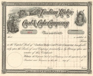 Indian Ridge Coal and Coke Company stock certificate circa 1893