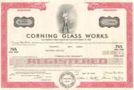Corning Glass Works bond certificate 1982