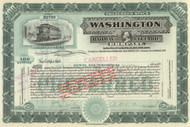 Washington Railway and Electric Company stock certificate circa 1930