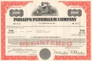 Phillips Petroleum Company bond certificate 1970's - red $1000